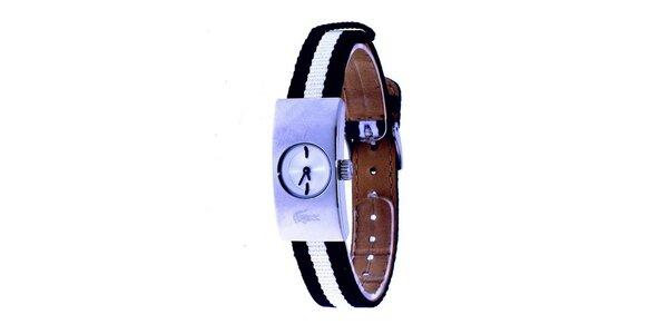 Dámské hodinky Lacoste s černo-bílým řemínkem