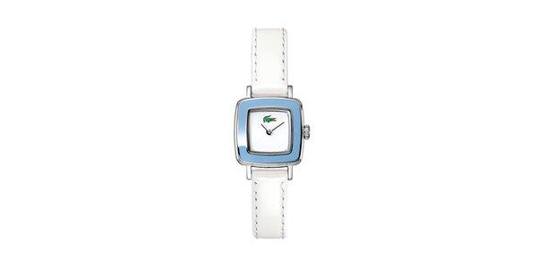 Dámské bílo-modré hodinky Lacoste