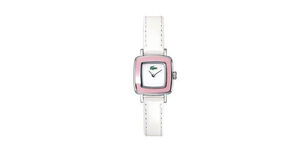 Dámské bílo-růžové hodinky Lacoste