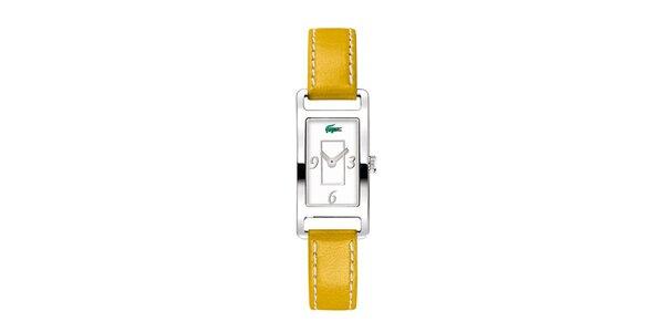 Dámské hodinky Lacoste se žlutým řemínkem