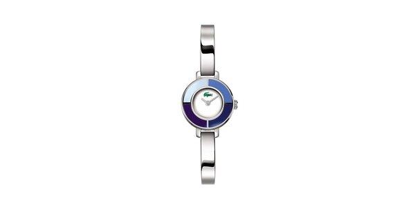 Dámské stříbrné hodinky Lacoste s modrými detaily