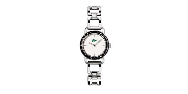 Dámské stříbrné hodinky Lacoste s černými detaily
