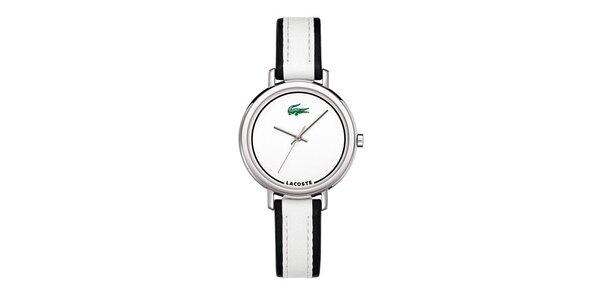 Dámské hodinky Lacoste s černobílým řemínkem