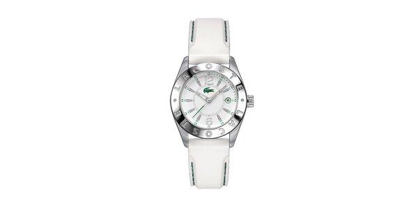 Dámské hodinky Lacoste s bílým prošívaným řemínkem