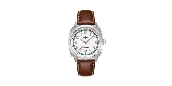 Pánské hodinky Lacoste s hnědým řemínkem