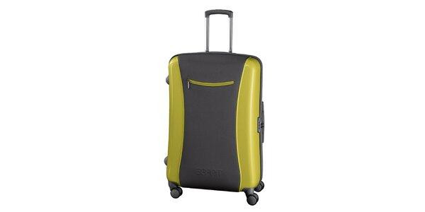 Šedozelený kufr Esprit velký