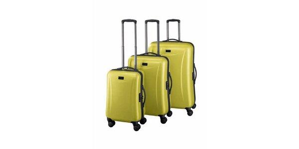 Sada tří světle zelených kufrů Esprit