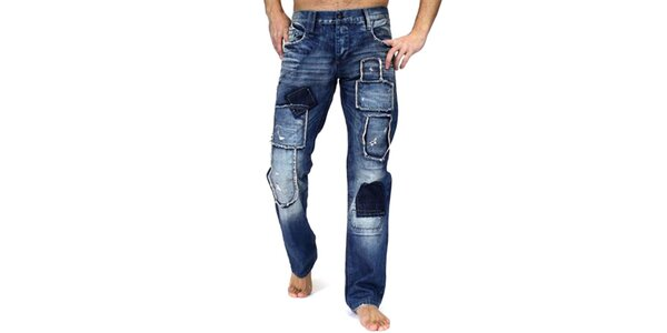Pánské tmavomodré kalhoty Cipo & Baxx