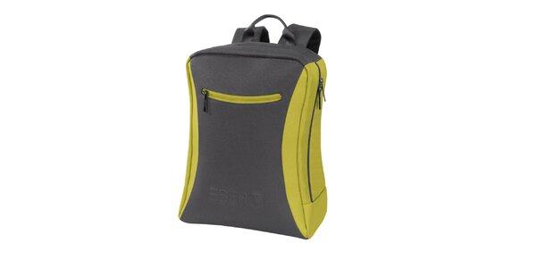 Šedo-zelený batoh Esprit