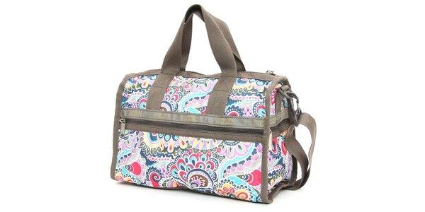 Víkendová taška LeSportsac s barevným potiskem