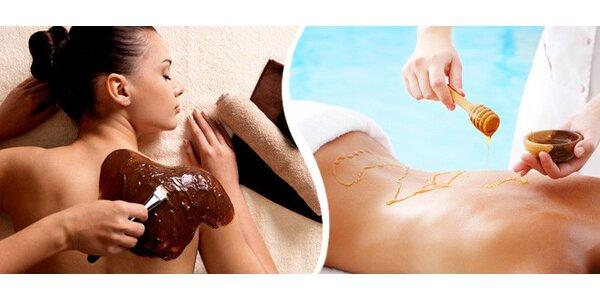 60minutová čokoládová, medová či havajská masáž
