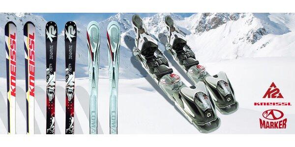 Voucher na nákup lyží K2 a Kneissl a vázání Marker