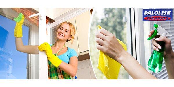 Umytí okna včetně rámu a parapetu s dopravou v ceně