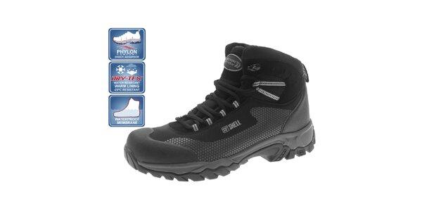 Pánské zimní kotníčkové boty černé Beppi