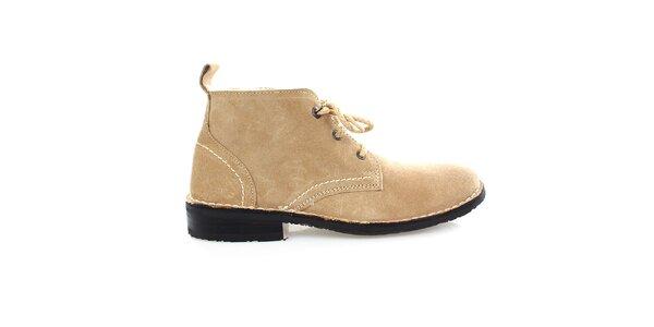 Pánské kožené béžové boty Levis