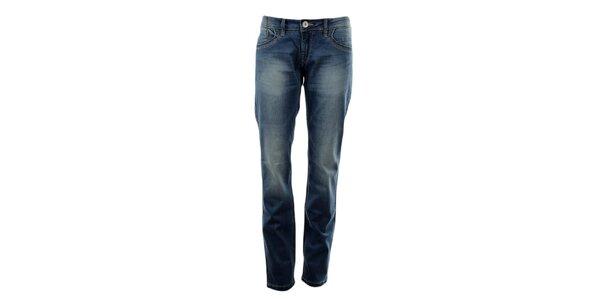Dámské modré džíny s šisováním Exe Jeans