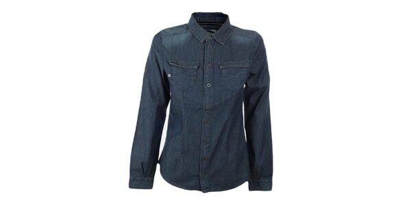 Dámská modrá džínová košile Exe Jeans
