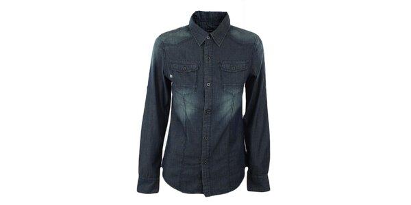 Dámská tmavě modrá džínová košile Exe Jeans