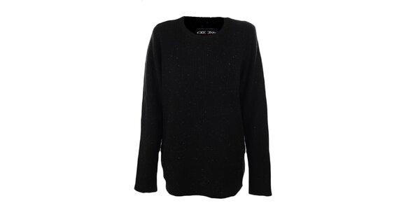 Pánský černý svetr s barevnými tečkami Exe Jeans