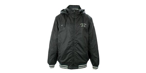 Pánská tmavě šedá bunda s kapucí Exe Jeans