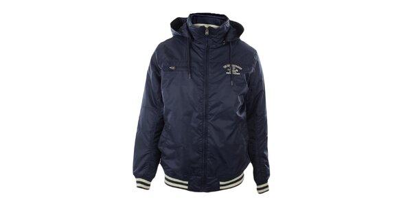 Pánská tmavě modrá bunda s kapucí Exe Jeans