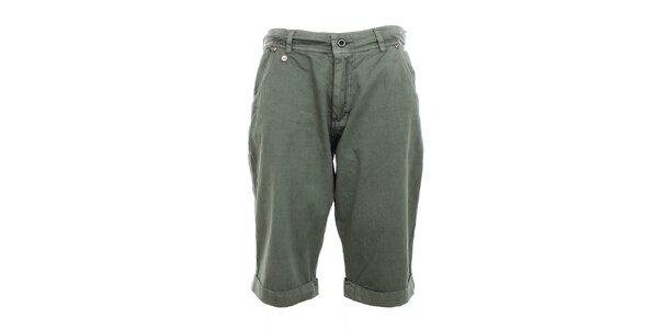 Pánské šedo-zelené kraťasy Exe Jeans