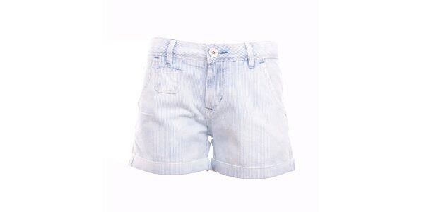 Dámské modro-bílé pruhované minikraťasy Exe Jeans