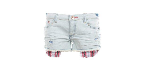 Dámské světlé džínové kraťasy s kapsičkami Exe Jeans