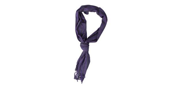 Dámský fialovo-černý šátek Exe Jeans