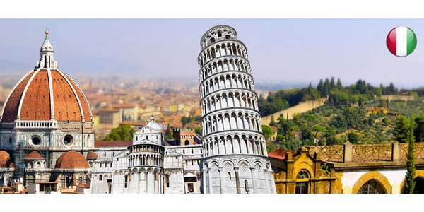 4denní letecký zájezd do italského města Pisa
