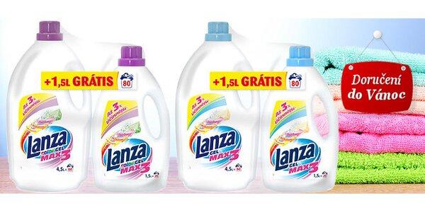 Celkem 12 litrů pracích gelů Lanza