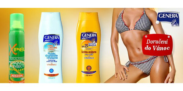 Italská solární kosmetika Genera