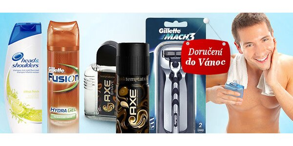 Pánská kosmetika Axe, Gillette a Head&Shoulders