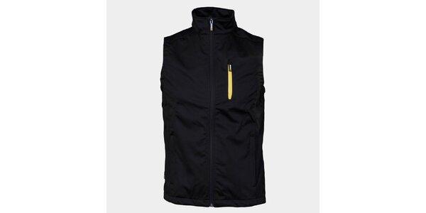 Pánská černá softshellová vesta Sweep