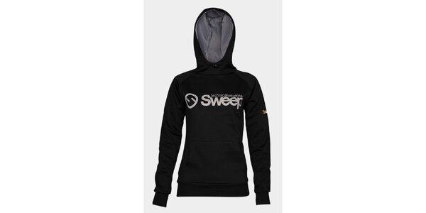 Dámská černá fleecová mikina Sweep
