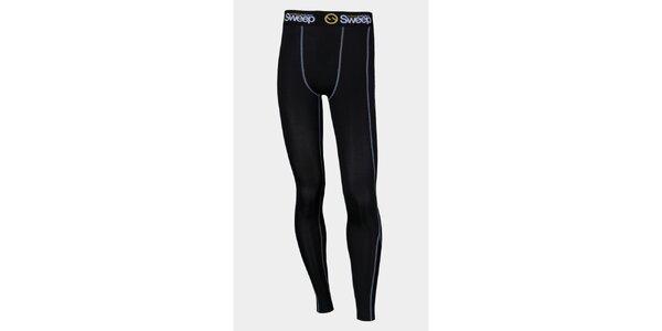Pánské černé elastické kompresní kalhoty Sweep