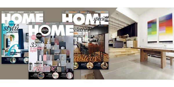 Roční předplatné časopisu HOME s dárky