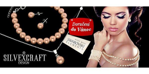 Šperky z pravého stříbra s perlami
