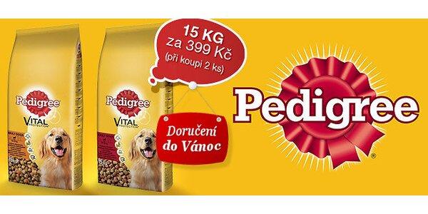 2x15 kg granulí Pedigree Adult pro psy