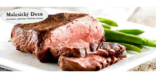 Steak ze svíčkové pro dva