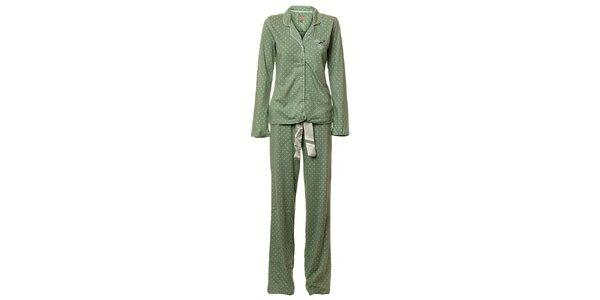 Dámské zelené puntíkované pyžamo Vive Maria