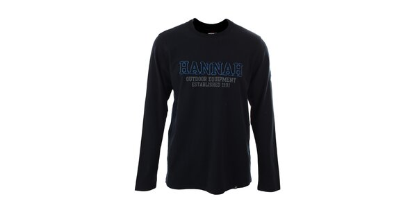 Pánské antracitové tričko s dlouhými rukávy Hannah