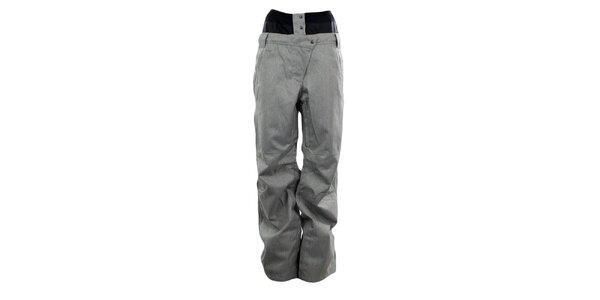 Dámské šedé membránové kalhoty se vzorem rybí kosti Hannah