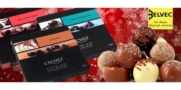 Luxusní dárkové balení belgických čokoládových pralinek