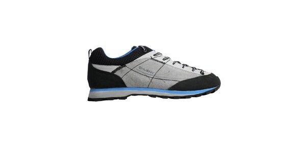 Dámské stříbrno-modré boty Husky