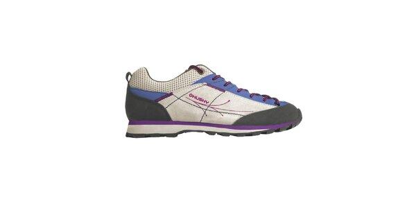 Dámské fialovo-stříbrné boty Husky