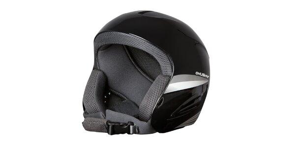 Pánská černo-stříbrná helma Husky