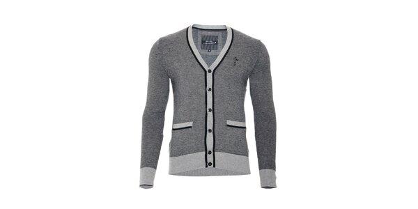 Pánský svetr značky Lois v tmavě šedé barvě