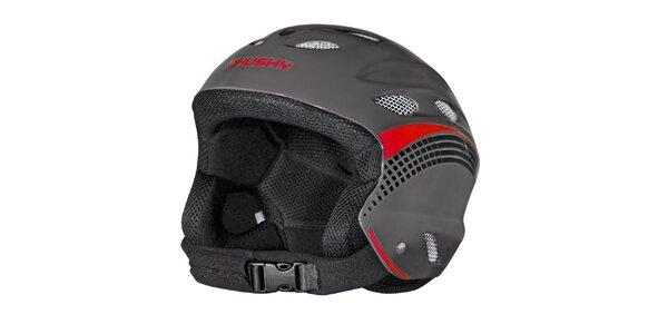 Pánská černo-červená zimní helma Husky