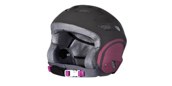 Dámská černo-růžová lyžařská helma Husky